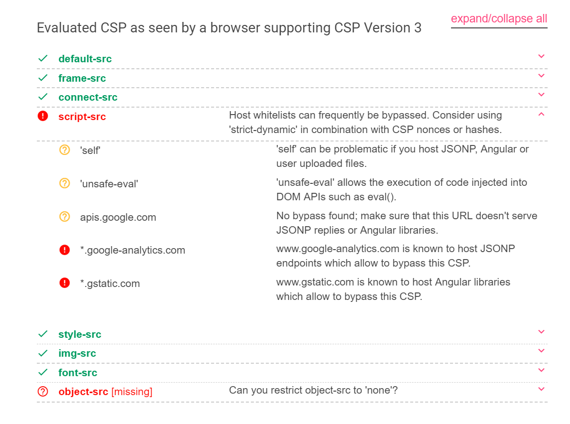 How to use Google's CSP Evaluator to bypass CSP - Thomas