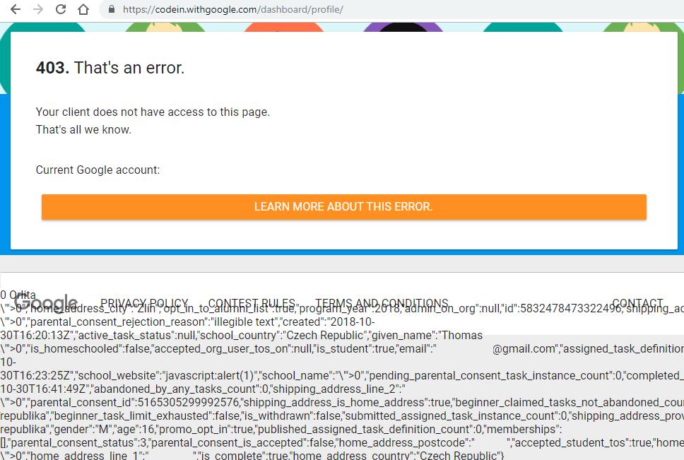 Google Code-in XSS