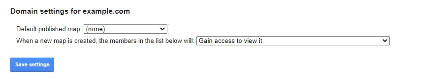 Domain settings form
